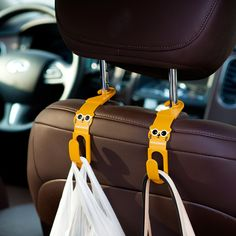 WINOMO Car Security Grab Handle Headrest Hanger Hooks Bar for SUV Truck