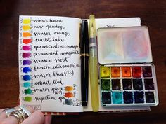 Color Chart #sketchbook #colours