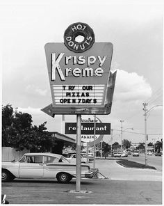 Early Krispy Kreme store in Winston-Salem.North Carolinians knew about Krispy Kreme many years before the rest of the country. Vintage Advertisements, Vintage Ads, Vintage Photos, Vintage Travel, Vintage Items, Krispy Kreme, Along The Way, Back In The Day, Vintage Neon Signs