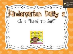 Mrs. Miner's Kindergarten Monkey Business: Daily 5: Read to Self in Kindergarten Plus a freebie!