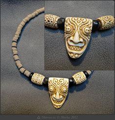 Etsy carved bone devil