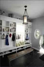 Like the idea for a bench facing storage ... If space large enough, could use  storage bench or ottoman