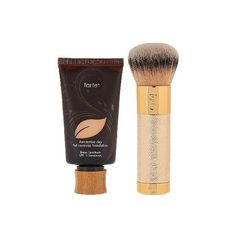 tarte Amazonian Clay Foundation ($39) ❤ liked on Polyvore featuring beauty products, makeup, face makeup, foundation, tarte, tarte foundation and liquid foundation
