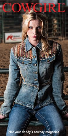 Cowgirl Magazine.  The style of this denim jacket with the defined waist is lovely.