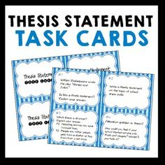 Thesis Statement Outline TemplateFormula  Google Search
