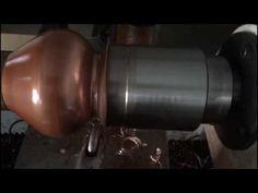 Metall gedrückte ( Metal spinning) Kupfervase (Coppervase) auf Teilfutter 4K - YouTube
