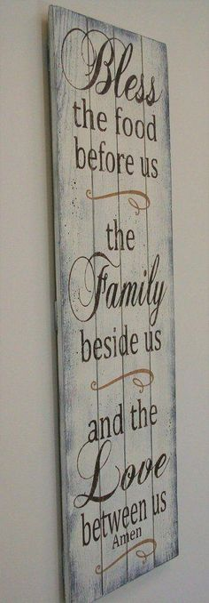 Bless The Food Before Us Wood Dining Room Decor Bless The Food Wood Before Us Wood Sign Pallet Sign Dining Room Decor Shabby Chic Dining Room, Shabby Chic Fabric, Shabby Chic Kitchen, Shabby Chic Homes, Shabby Chic Furniture, Shabby Chic Decor, Dining Rooms, Furniture Decor, Shabby Cottage