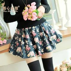 Buy 'Kaven Dream – Elastic-Waist Flower-Print A-Line Skirt' with Free International Shipping at YesStyle.com. Browse and shop for thousands of Asian fashion items from China and more!