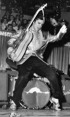"Elvis Presley doing his ""thing"""