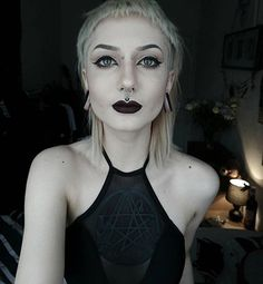 All Black Everything Buy All The Things, Goth Music, Goth Women, All Black Everything, Nu Goth, Peircings, Body Modifications, Gothic Beauty, Swim Top