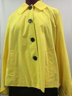 Chaps Pea Coat Blazer XL Yellow Jacket Career #Chaps #Peacoat