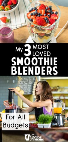 Here are all my most loved smoothie blenders at a variety of prices. These are blenders I actually use and love and will help you create the perfect smoothie. Best Smoothie, Smoothie Blender, Smoothie Prep, Fruit Smoothie Recipes, Protein Shake Recipes, Protein Shakes, Best Blenders, How To Make Smoothies