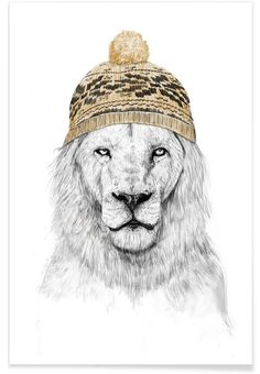 """Trademark Art """"Winter Is Coming"""" by Balazs Solti Graphic Art on Wrapped Canvas Size: Winter Is Here, Winter Is Coming, Painting Prints, Canvas Prints, Art Prints, Canvas Canvas, Canvas Artwork, Watercolor Paintings, Lion Poster"""