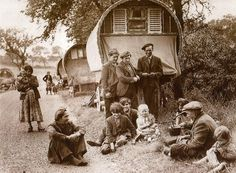 Print 1956 Romany Gypsy Caravan bow top wagon  Appleby Horse Fair new size