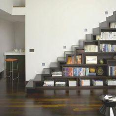 stairs/bookshelf