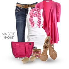 """Magenta Magic"" by maggiebags on Polyvore"