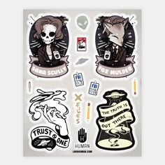 Xfile Stickers | Stickers, Sticker Sheets and Vinyl Stickers | HUMAN