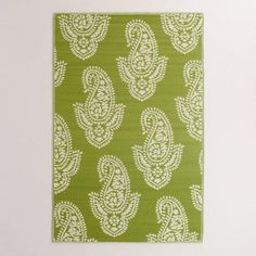 One of my favorite discoveries at WorldMarket.com: Green Paisley Urban Floor Mat