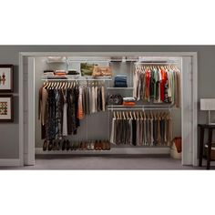 10 Ft. White Closet Organizer Kit 2891