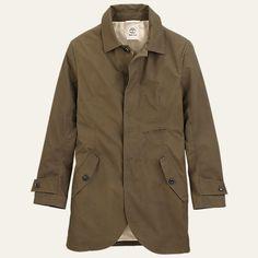 Men's Premium Waxed Canvas Trench Coat