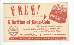 1951 postcard back http://www.7xpub.com/advertising-covers/1705-coca-cola-bottling-co-advertising-postcard-1951.html