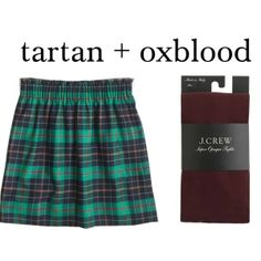Southern Preppy Chic [skirt + tights]