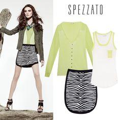 Compre moda com conteúdo, www.oqvestir.com.br #Spezzato #Fashion #Look #Colors #Green #Neon