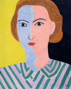 Portrait with Pink and Blue Face, Henri Matisse, 1936-37