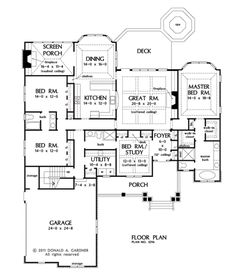 Don't really like the MBA tub facing the front but wouldnt want the MBR facing the front either. The Wilkerson House Plans First Floor Plan - House Plans by Designs Direct. DDWEBDDDG-1296