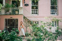 Gal Meets Glam A Day In Savannah - Pankaj& Nidhi dress, Cuyana belt, Mansur Gavriel bag, and Mango sandals