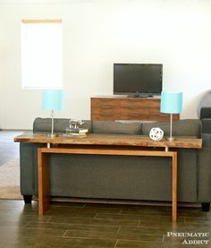 Floating Top Console Table
