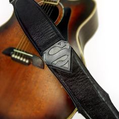 The Metropolis Guitar Strap - If Superman is your thing, this is the strap for you! - Created By Ethos Custom Brands