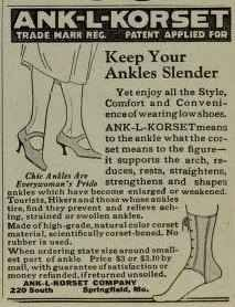 An ankle corset from 1922.   25 Health Products You'll Be Glad You Don't See Today