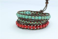 Wrap Bracelet, Boho Bracelet, Wrap Bracelet, Beaded Wrap Bracelet, Leather Bracelet, Bracelets for Women, Gifts for Girlfriend by RadiantLotusJewelry on Etsy Beaded Wrap Bracelets, Boho, Trending Outfits, Unique Jewelry, Handmade Gifts, Leather, Etsy, Vintage, Women