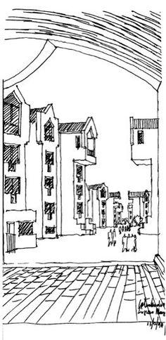 Clásicos de Arquitectura: Ciudadela Colsubsidio,Dibujo Floor Plans, Diagram, Sketches, How To Plan, Arch, Image, Architecture, Drawings, Longbow
