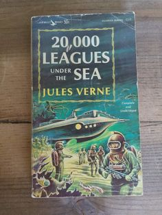 20,000 Leagues Under The Sea by Jules Verne Airmont Books by jessamyjay on Etsy