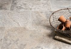 he Silver Tumbled Travertine ranges in colour from off-white and pale beige to darker grey with distinct marbling detail. Floors of stone offer Travertine tiles at highly competitive prices, call for a quote or visit our Leicestershire flooring showroom. Travertine Bathroom, Travertine Floors, Stone Bathroom, Stone Flooring, Ceramic Flooring, Master Bathroom, Best Flooring For Kitchen, Kitchen Paint Colors, Floor Patterns