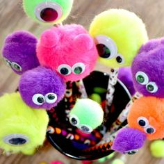 fuzzy halloween monster toppers