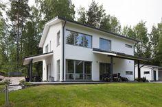 Tyylikäs kivitalon julkisivu, lisää ideoita www.lammi-kivitalot.fi