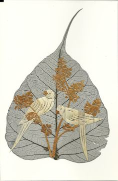 No Two leaf or leaf art looks exactly same.  Handmade COLLECTIBLE leaf art  by museumshop on Etsy, $9.99