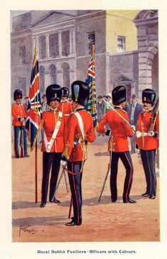 ANTIQUE COLOUR PRINT,BRITISH ARMY, ROYAL DUBLIN FUSILIERS, SERVICE CORPS 1916 | eBay
