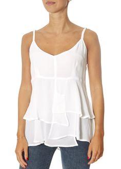 White Layered Cami | Jessimara London Bow Shorts, Ladies Tops, Giraffe Print, Ruffle Skirt, Black Cardigan, Short Dresses, Layers, Camisole Top, London