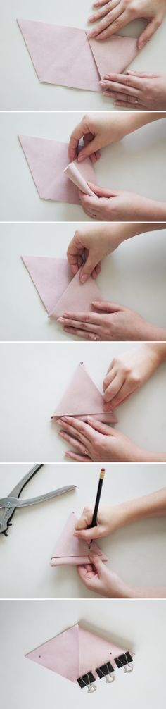 DIY triangle pouch   almost makes perfect