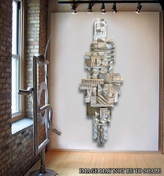 Large Modern Metal Abstract Original Dimensional Wall Sculpture Time Suspended. $425.00, via Etsy.