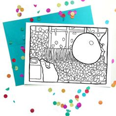 Seattle Gum Wall Coloring Card!