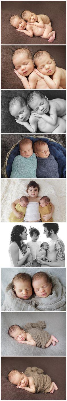 Sesión recién nacidos gemelos Barcelona