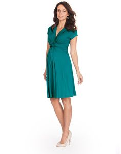527461f993f Green Knot Front Maternity Dress. Maternity Dresses SummerMaternity FashionMaternity  Clothes ...
