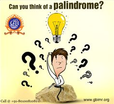 """The word """"#Mom"""" is a #palindrome. It can be interpreted in the same way in both, forward and reverse directions. Can you think of similar words and share them in the comment box below.  www.glbimr.org  #GLBajaj #Career #College #Knowledge"""