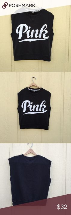 PINK Sweater Muscle Shirt Sleeves cut off. Light sweater material. PINK Victoria's Secret Tops Muscle Tees