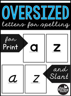 Oversized Letter Cards for Spelling - Print and Slant - This Reading Mama Word Study Activities, Spelling Activities, Preschool Letters, Montessori Activities, Alphabet Activities, Beginning Reading, Guided Reading, Teaching Reading, Free Reading